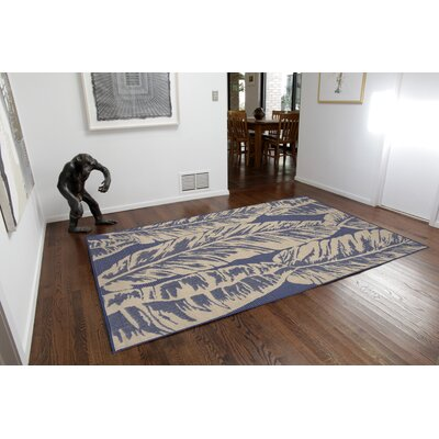 Lambert Banana Leaf Blue Indoor/Outdoor Area Rug Rug Size: Rectangle 410 x 76