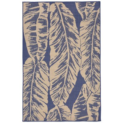 Lambert Banana Leaf Blue Indoor/Outdoor Area Rug Rug Size: Square 710