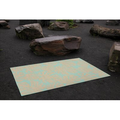 Lambert Fronds Blue Indoor/Outdoor Area Rug Rug Size: Rectangle 111 x 211