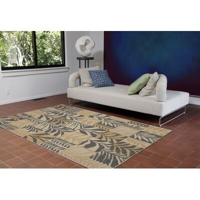 Lambert Box Leaves Gray Indoor/Outdoor Area Rug Rug Size: Rectangle 111 x 211