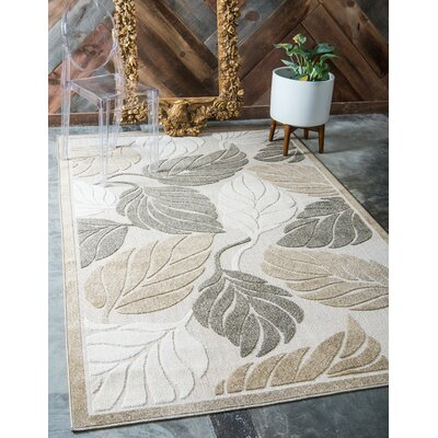 Brimfield Beige Indoor/Outdoor Area Rug Rug Size: Rectangle 6 x 9