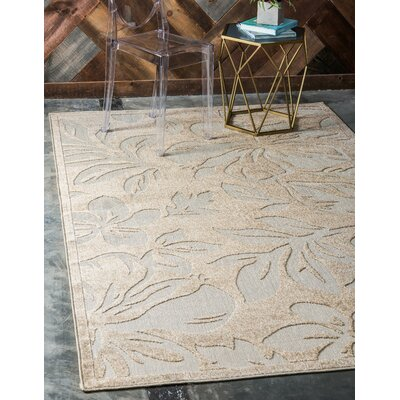 Duxbury Beige Indoor/Outdoor Area Rug Rug Size: Rectangle 9 x 12