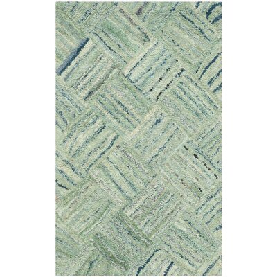 Millia Hand-Tufted Green Area Rug Rug Size: Rectangle 3 x 5
