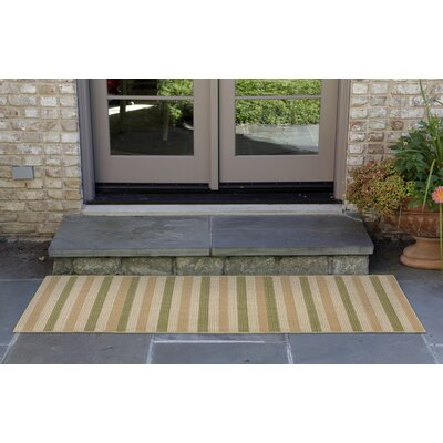 Lambert Multi Stripe Green Indoor/Outdoor Area Rug Rug Size: Rectangle 33 x 411
