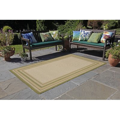 Lambert Multi Border Beige Indoor/Outdoor Area Rug Rug Size: Rectangle 111 x 211
