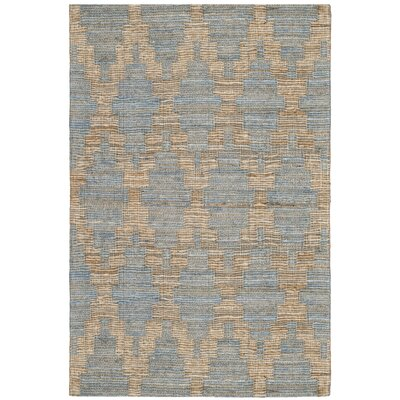 Montserrat Meigs Hand-Woven Light Blue/Gold Area Rug Rug Size: Rectangle 2 x 3