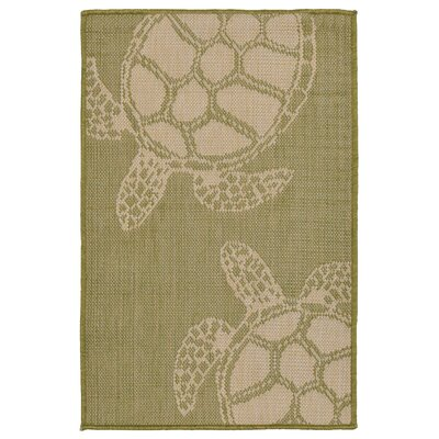 Lambert Seaturtle Green Indoor/Outdoor Area Rug Rug Size: Rectangle 111 x 211