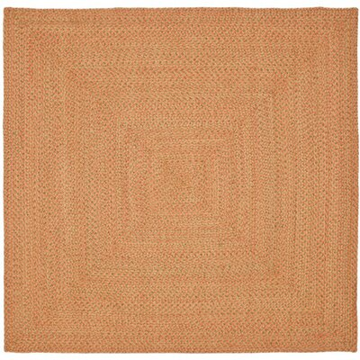Woodlawn Hand Woven Beige/Orange Area Rug Rug Size: Square 6