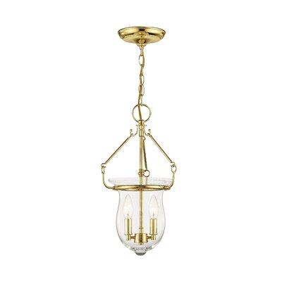 Brentwood 2-Light Foyer Pendant Color: Polished Brass