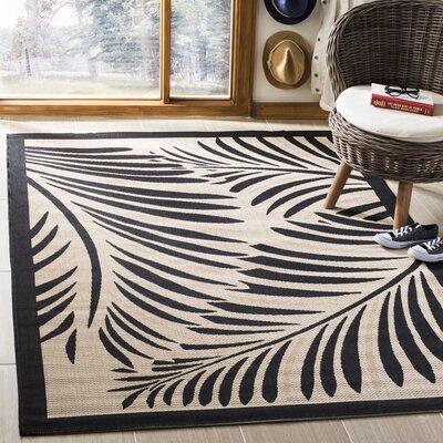 Bridgeville Tropic Palm Silhouette Area Rug Rug Size: Rectangle 53 x 77