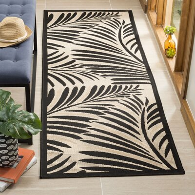 Bridgeville Tropic Palm Silhouette Area Rug Rug Size: Runner 27 x 82