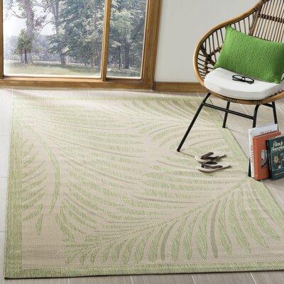 Bridgeville Tropic Palm Tan Area Rug Rug Size: Rectangle 53 x 77