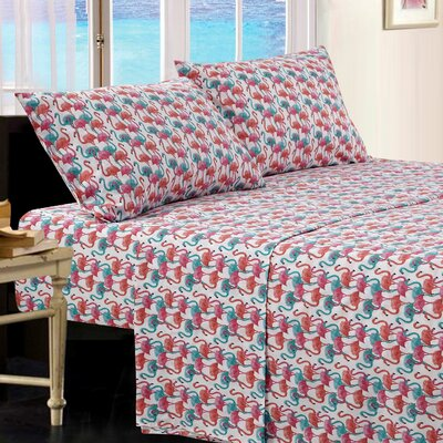 Barview Flamingo Microfiber Sheet Set Size: Twin