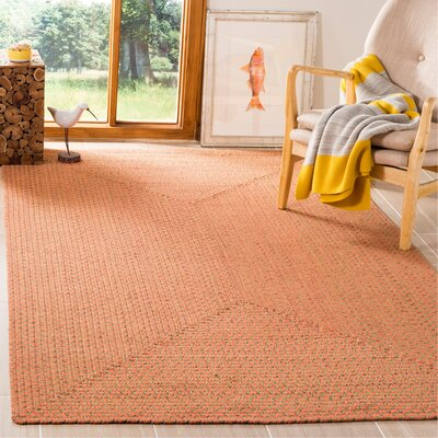 Woodlawn Hand Woven Beige/Orange Area Rug Rug Size: Rectangle 5 x 8