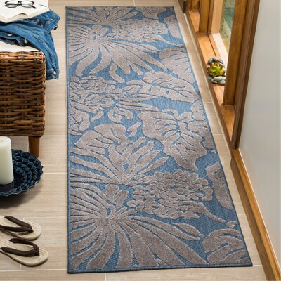 Patricia Blue Indoor/Outdoor Area Rug Rug Size: Runner 23 x 8