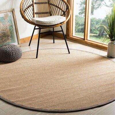 Lattimore Beige Area Rug Rug Size: Round 6
