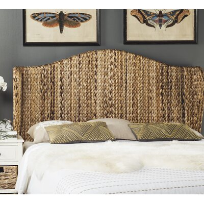 Farragut Wingback Headboard Size: Twin, Upholstery: Natural