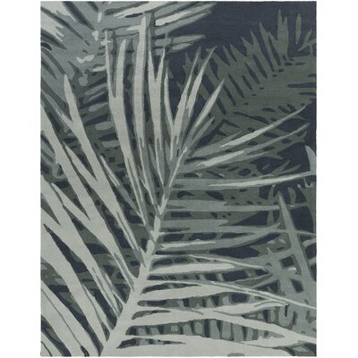 Acosta Hand-Tufted Slate/Navy Indoor/Outdoor Area Rug Rug Size: Rectangle 8 x 10