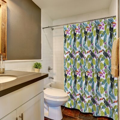 New Bedford Tropical Toucans 100% Cotton Shower Curtain