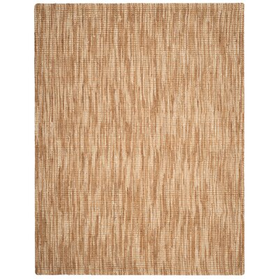Omorfo Hand-Woven Natural/Cream Area Rug Rug Size: Rectangle 8 x 10