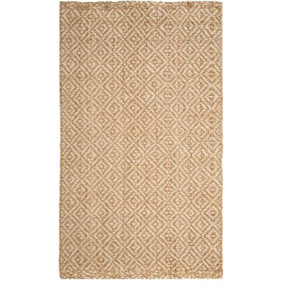 Miliou Hand-Woven Ivory/Natural Area Rug Rug Size: Rectangle 5 x 8