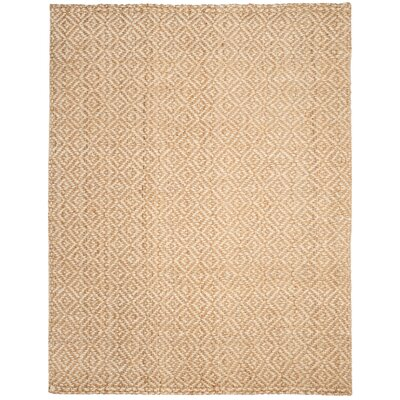 Miliou Hand-Woven Ivory/Natural Area Rug Rug Size: Rectangle 8' x 10'