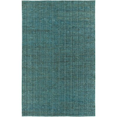 Tai Hand-Woven Teal Area Rug Rug Size: Rectangle 2 x 3