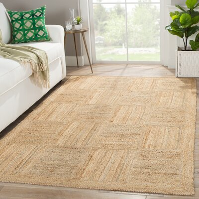 Raposa Hand-Woven Beige/Brown Area Rug Rug Size: Rectangle 9 x 12