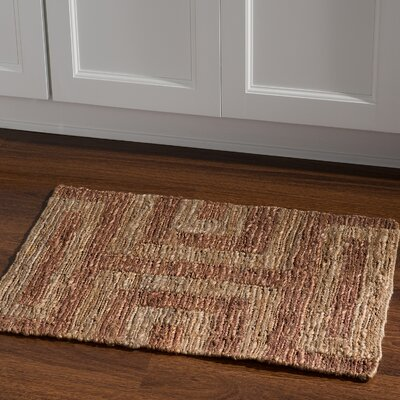 Chloraka Hand-Knotted Beige/Russet Area Rug Rug Size: Rectangle 2 x 3