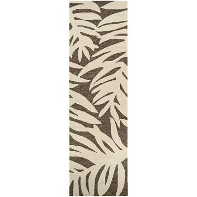 Wallingford Palms Hand-Woven Slate Indoor/Outdoor Area Rug Rug Size: Runner 26 x 86