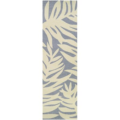 Wallingford Hand-Woven Gray/Beige Indoor/Outdoor Area Rug Rug Size: Runner 26 x 86