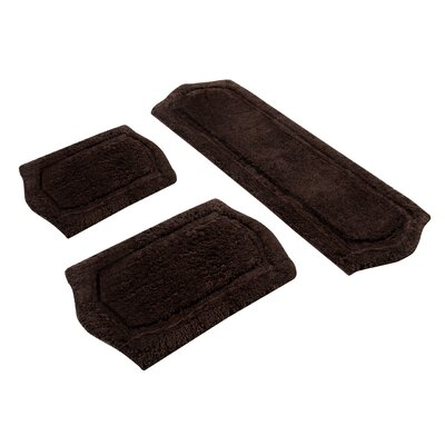 Paradise 3 Piece Memory Foam Bath Rug Set Color: Chocolate