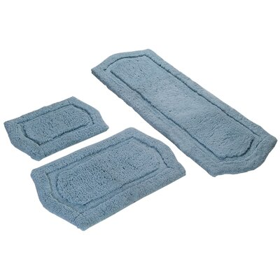 3 Piece Memory Foam Bath Rug Set Color: Spa Blue