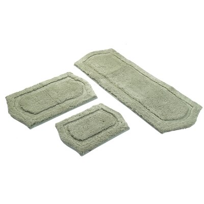 3 Piece Memory Foam Bath Rug Set Color: Sage