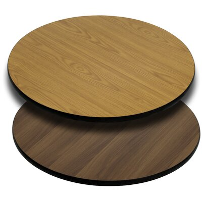 Reversible Laminate Table Top Finish: Natural / Walnut, Size: 24 Square