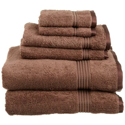 Superior 6 Piece Towel Set Color: Mocha