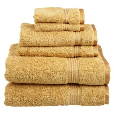 Superior 6 Piece Towel Set Color: Gold