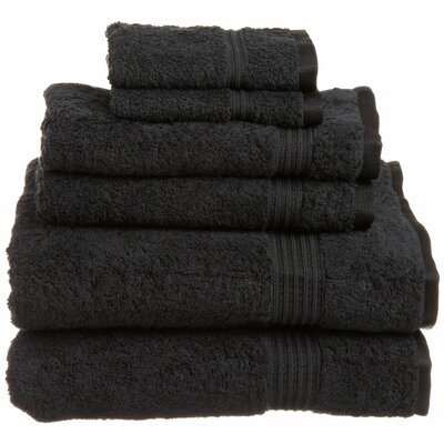 Superior 6 Piece Towel Set Color: Black