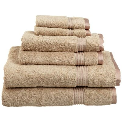 Currie 6 Piece Towel Set Color: Taupe