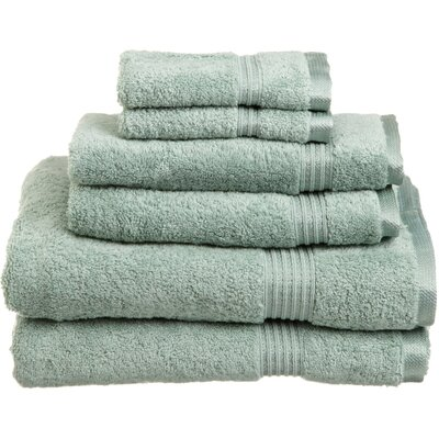 Currie 6 Piece Towel Set Color: Sage