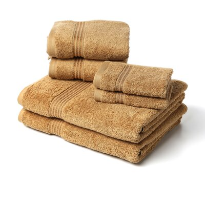 Superior 6 Piece Towel Set Color: Toast