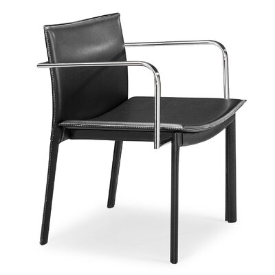 Conference Armchair Seat Color: Black