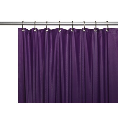Vinyl Shower Curtain Liner Color: Purple