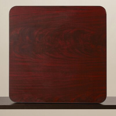 Reversible Laminate Table Top Finish: Black / Mahogany, Size: 36 Round