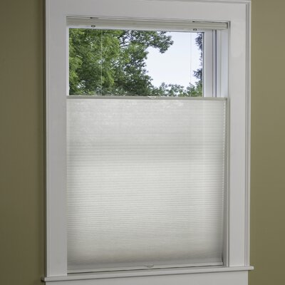 Top Down Bottom Up Cordless Cellular Shade Color: White, Size: 25 W x 64 L