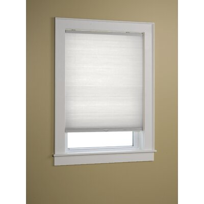 Semi-Sheer Cellular Shade Size: 23 W x 64 L, Color: White