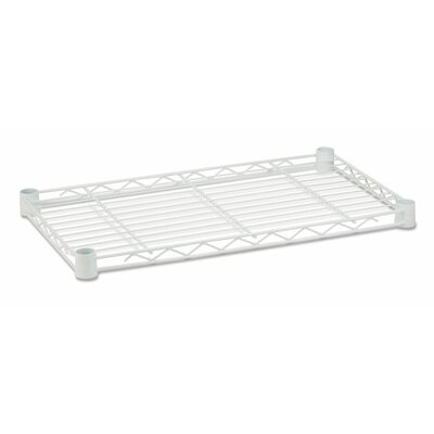 16 W x 36 D Steel Shelf Finish: White