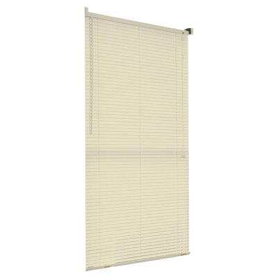 Mini Venetian Blind Size: 46 W x 64 L, Color: Ivory