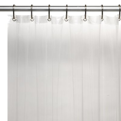 Vinyl 5 Gauge Shower Curtain Liner Color: Frosted Clear