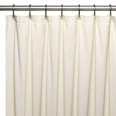 Vinyl 5 Gauge Shower Curtain Liner Color: Bone